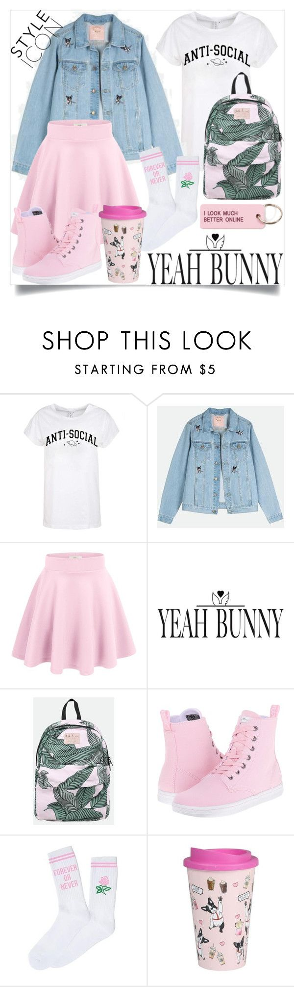 """""""YEAHBUNNY CONTEST"""" by agathaputri ❤ liked on Polyvore featuring Yeah Bunny, Dr. Martens and Various Projects"""