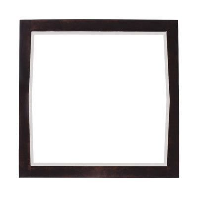 """American Imaginations Antique Walnut Transitional Wall Mirror Size: 34"""" H x 24"""" W x 1"""" D, Finish: Brushed Gold"""