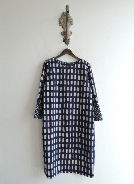新品/2015-16AW/ミナペルホネン sora check ワンピース size38 (31-1601-52)