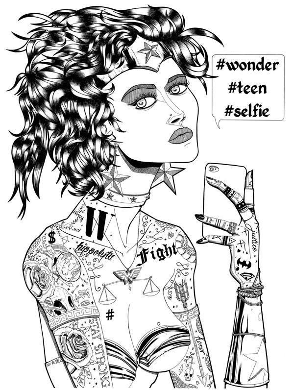 Le derrère de la guerrière - Wonder Woman fan art - Illustration : Jean-Baptiste MUS - #illustration #dessin #draw #dessinateur #illustrateur #fanart #geek #popculture #wonderwoman #handmade #papier #paper #crayon #feutre #bristol #wonder #teen #girl #fille #teenager #selfie #tattoo #tatouage #typo #typographie #typography #fashion #star #noiretblanc #blackandwhite