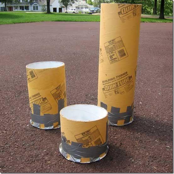 Cool concrete project ~ How to Make a Restoration Hardware Concrete Fire Column