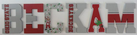 Ohio State Buckeye Themed Wall Letters by SilverSprout on Etsy, $12.00