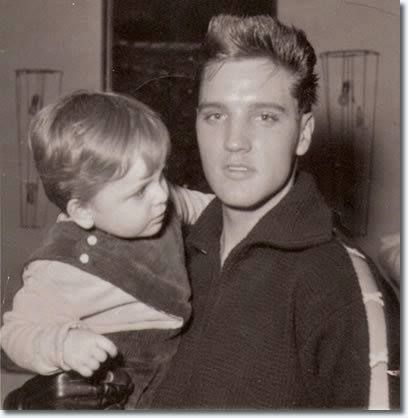 Bad Nauheim, Germany in 1959. The little kid is Chris Karmedar (now a Dr.). Elvis used to visit Chris' family often in Bad Nauheim. Chris' mother was like a second mother to Elvis. In case of her death a letter should be opened by Elvis. She passed away in July 2014. I wonder what the letter said