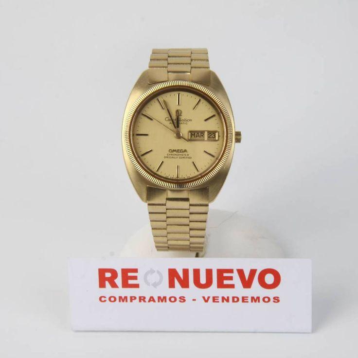 Reloj OMEGA CONSTELLATION de oro de segunda mano E271884   Tienda online de segunda mano #vintage #omega #constellation