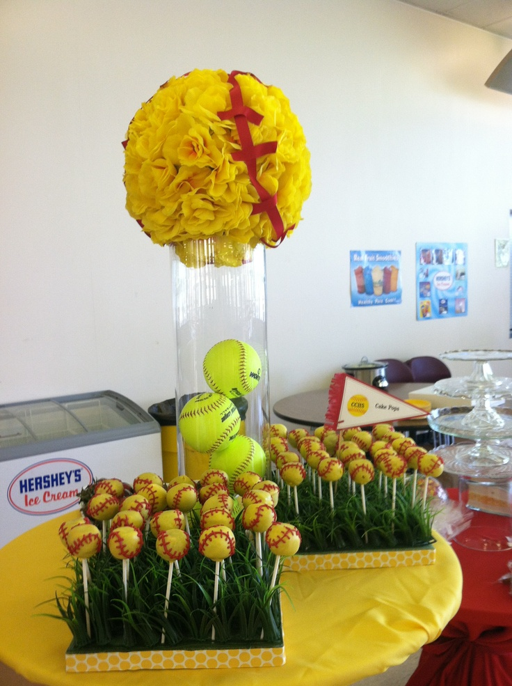 Softball centerpiece craft ideas pinterest