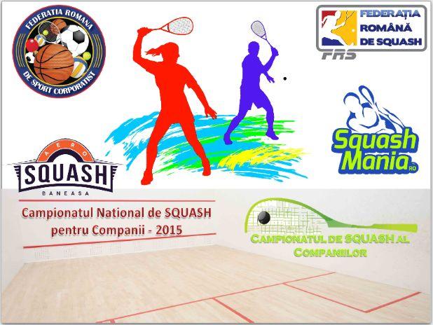 Campionatul de SQUASH al Companiilor, editia I-a 2015. Campionatul de SQUASH al Companiilor – editia 2015, organizat de Federatia Romana de Sport Corporatist si SquashMania.ro in colaborare cu Federatia Romana de Squash se joaca la Aerosquash Baneasa din septembrie... http://www.squashmania.ro/campionatul-de-squash-al-companiilor-editia-i-a-2015/