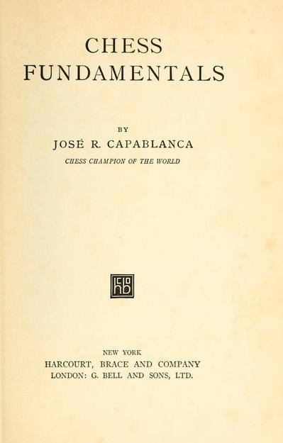 World Chess Champion José Raul Capablanca presents this classic work of chess tactics and strategy. Many regard it as one of the best books of chess instruction written in the 20th century. Capablanca demonstrates essential techniques for all game phases, including how to exploit a passed pawn, how to use knights for attack and how [...][...]