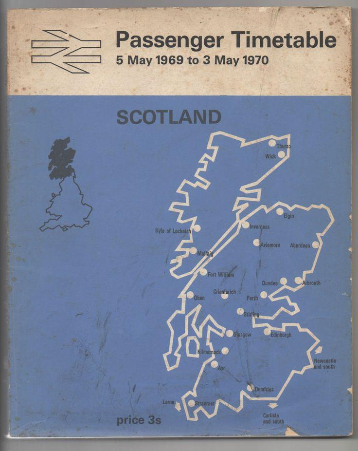 BRITISH RAIL -SCOTLAND-PASSENGER TIMETABLE-5 May 1969 to 3 May 1970