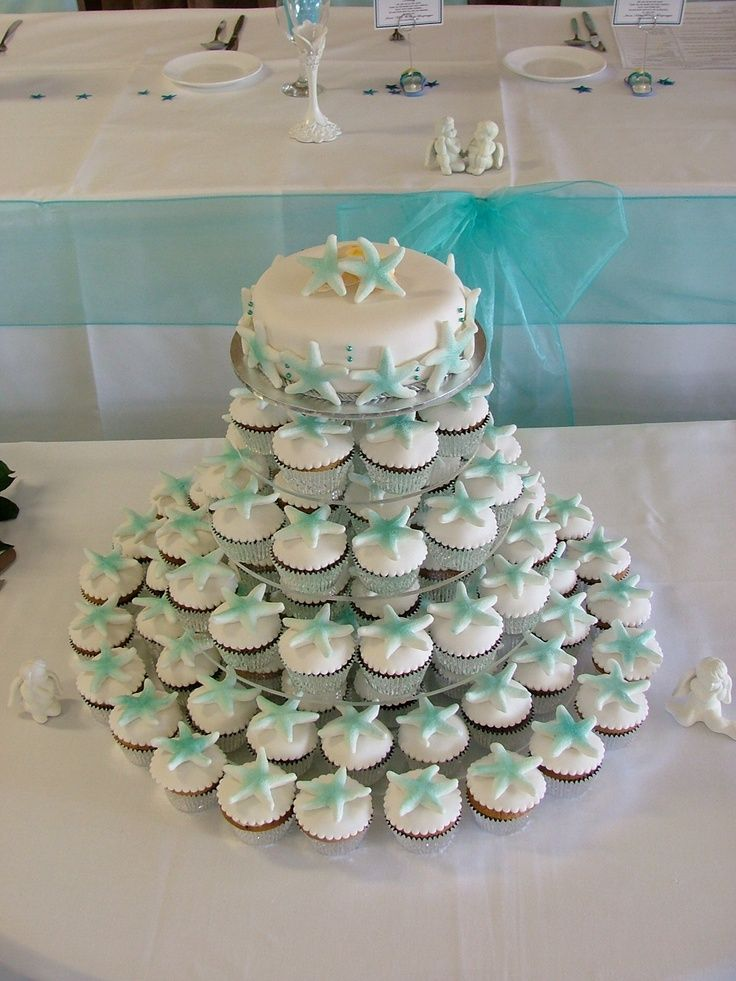 beach themed cupcakes wedding | Visit disneythemedweddings.com