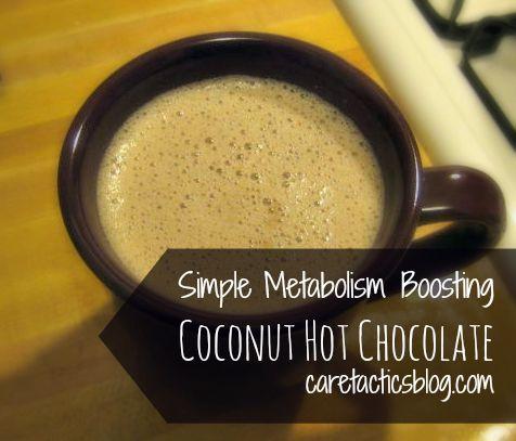 Simple Metabolism Boosting Coconut Hot Chocolate