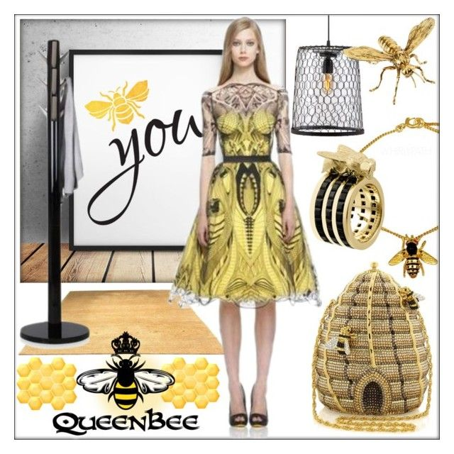 Queen Bee! by whirlypath on Polyvore featuring Tessa Packard, Alexander McQueen and Queen Bee