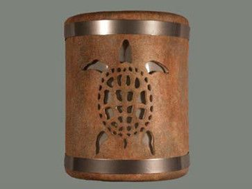 Sandstone 9-Inch Wall Sconce with Sea Turtle Cutout Design - tropical - wall sconces - Bellacor $151.20