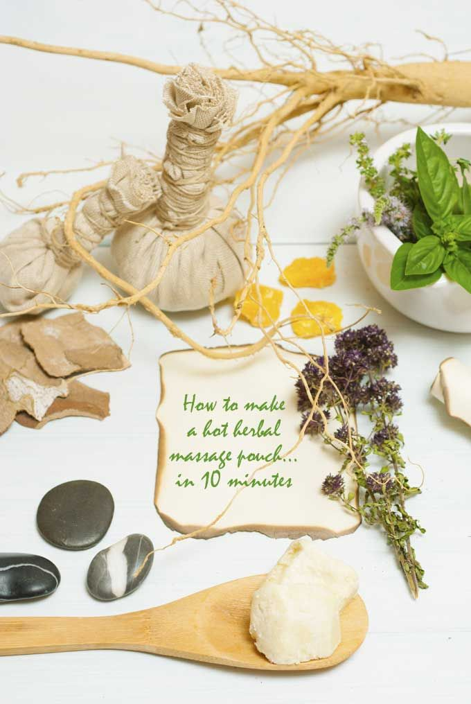 How to make totally indulgent herbal compresses (Time: 10 minutes)- loved & pinned by www.omved.com