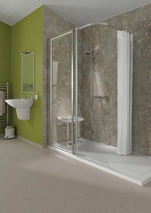 Majestic walk in shower screens
