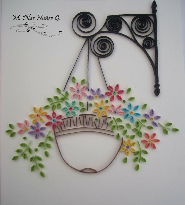 Potted flowers by Pily Núñez http://creaquilling.blogspot.com/2014/01/potted-flowers.html