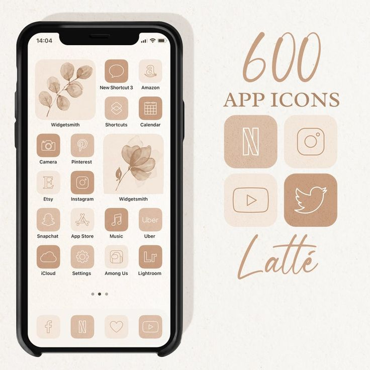 20 satisfying and aesthetically pleasing app icon themes for your iphone. Neutral Palette App Icons, iOS 14 Icons Aesthetic, Boho ...