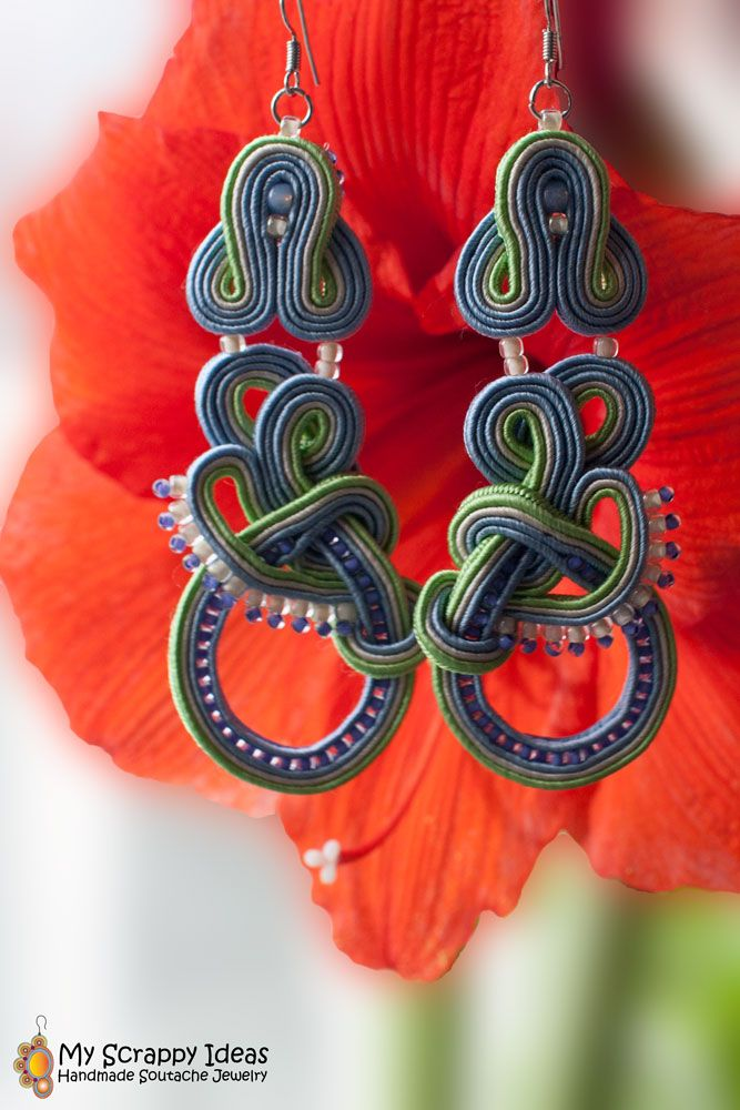 Beautiful pastel soutache earrings by My Scrappy Ideas. Two-sided, super-lightweight, original design, handmade!  http://soutache.myscrappyideas.com