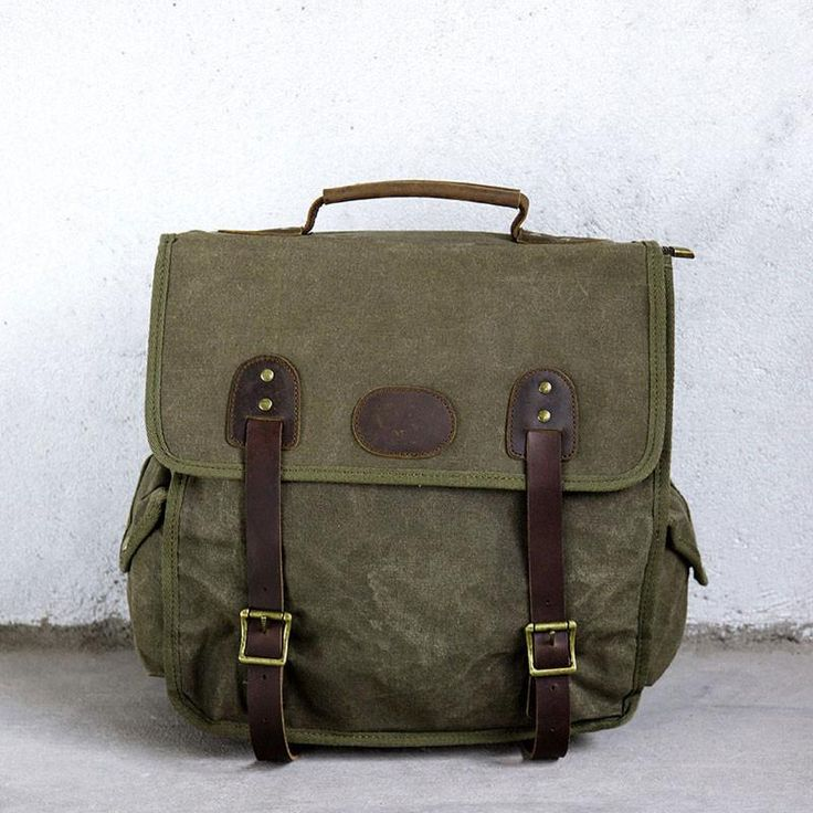 Casual Durable Versatile Army Green Backpack