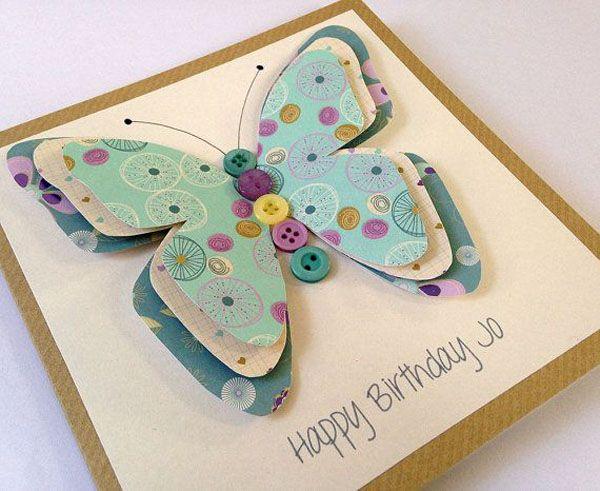 Летием подругу, открытки из пуговиц с днем рождения