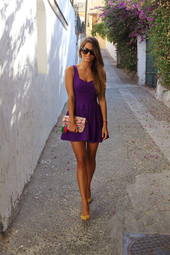 purple!: Women Fashion, Summer Dresses, Woman Fashion, Fashion Ideas, Summer Looks, Shades Of Purple, Purple Dresses, Parties Dresses, The Dresses