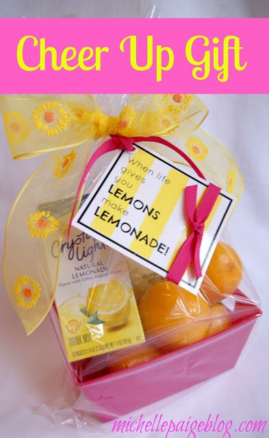 michelle paige: Cheer Up Gifts - Lemons to Lemonade #gift #idea