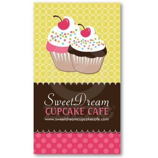 23 best cake business card images on pinterest bakery business cupcake bakery business cards reheart Image collections