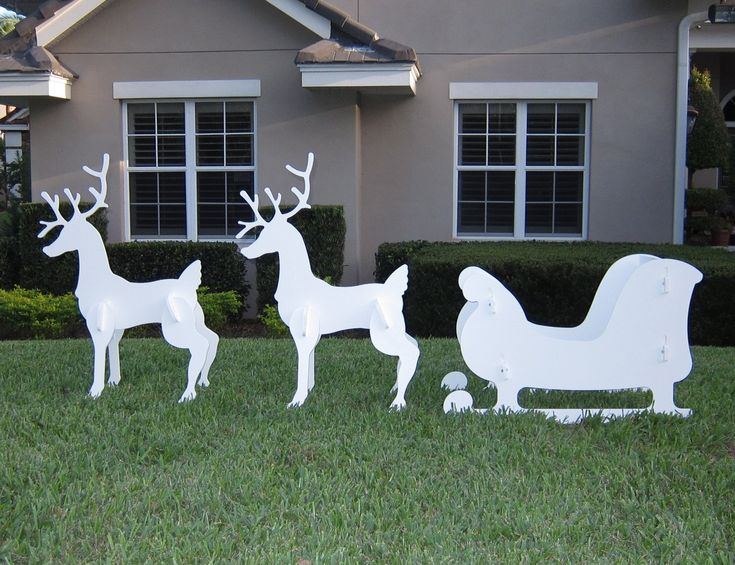 13 Best Reindeer Outdoor Christmas Decorations Images On