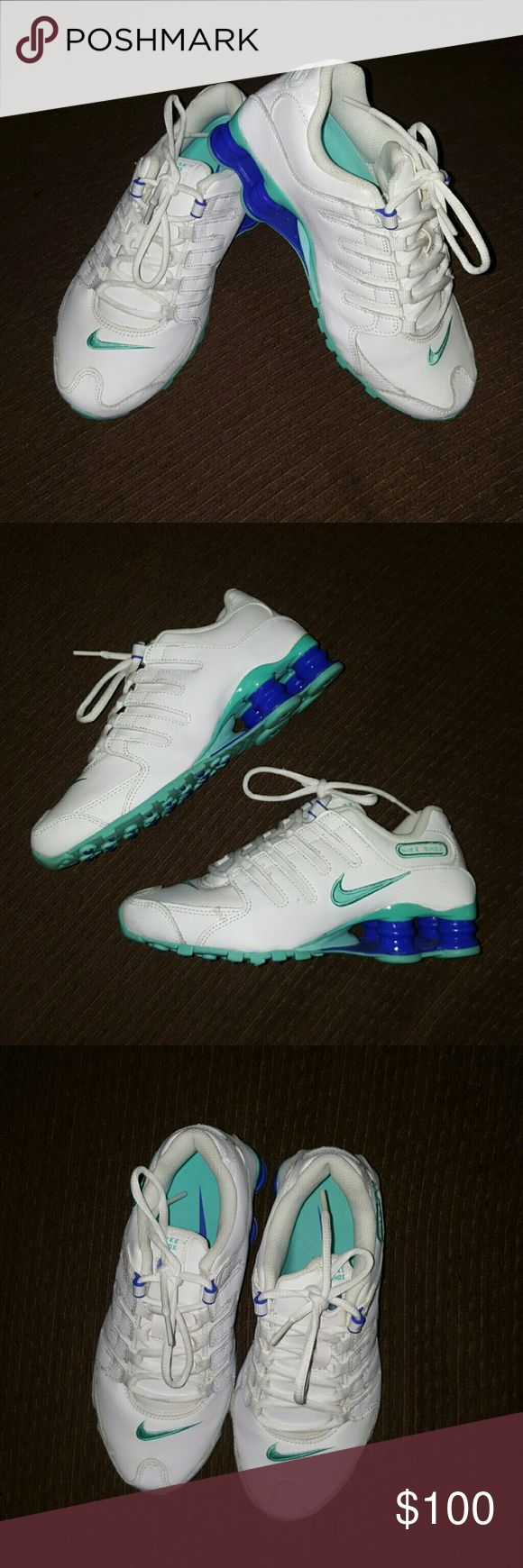 Women's Nike Shox NZ Size 6 *NEW Women's Nike Shox NZ SIZE 6 WHITE & ROYAL BLUE NEVER USED/WORN IN EXCELLENT CONDITION  MAKE ME AN OFFER NIKE Shoes Athletic Shoes