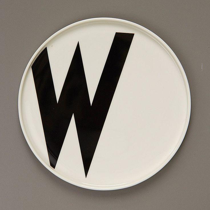 top3 by design - DESIGN LETTERS - AJ porcelain plate W