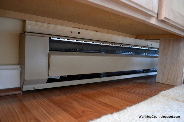 Baseboard Heating Under Cabinets