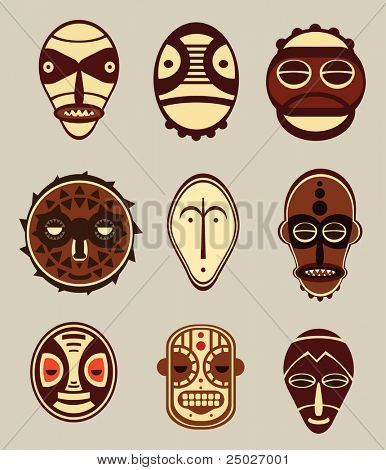 African mask designs