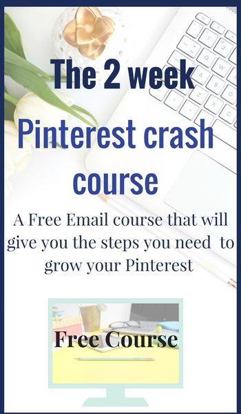 The 2 week Pinterest Crash course. Get started on Pinterest and learn to grow your blog or business with this amazing platform Click to sign up now!