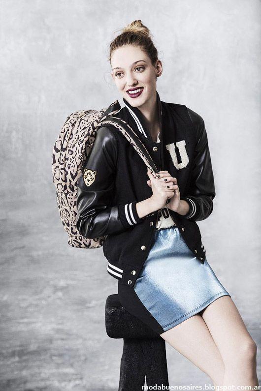 Camperas universitarias invierno 2014 moda Uma.