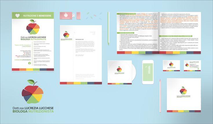 #Brand #Image #ImmagineCoordinata #Nutrizionista Lucchese #Brochure #LandingPage #Graphic #Design #Salerno #Italy