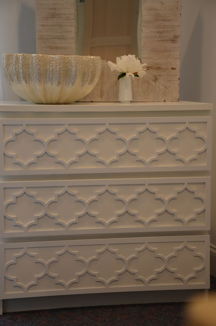 Overlays Jasmine Kit For The Ikea Malm 3 Drawer Dresser In 1 4 Thick Material Panel Pattern