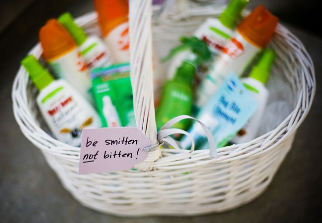 Provide bug spray for guests for an outside wedding