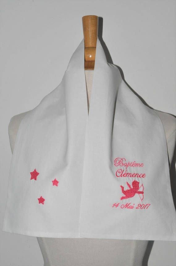 scarf shawl baptism Angel and stars custom embroidered for boy or ... bc143f50280