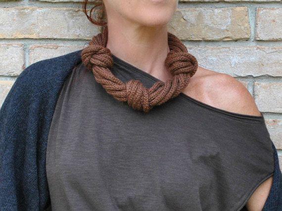 Collana in maglia / Collana a più fili di AliquidTextileJewels