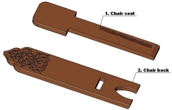 Two Piece Wooden Chair Plans