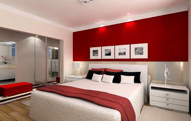Vermelho for the home pinterest chambres murs rouges et chambres parentales - Chambres parentales ...