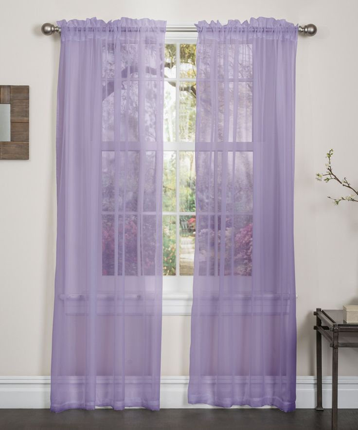 Lilac Lisa Sheer Curtain Panel - Set of Two by Kashi Enterprises #zulily #zulilyfinds