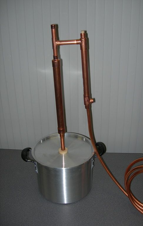 Diy Home Made Stock Pot Moonshine Still The Home