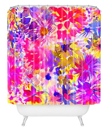 Love this Amy Sia Bloom Pink Shower Curtain on #zulily! #zulilyfinds