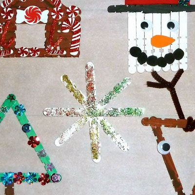 Simple DIY Christmas Craft Ideas for Kids - Stick Craft Ornaments - Click PIN for 25 Holiday Decoration Ideas