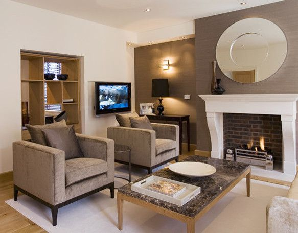 Modern lounge created from Client's collection of room pins and love of Neutral shades