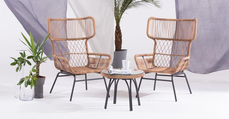 Lyra, set lounge, charbon de bois | made.com