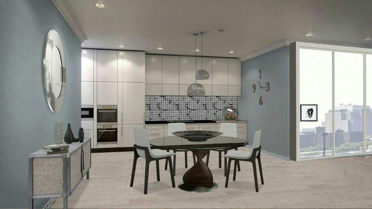 Studio apartment kitchen/dining concept