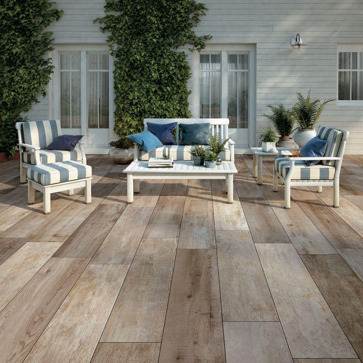 Wie droomt er nu niet van een onderhoudsvriendelijke houten terras? Keramische tegels met het effect van hout!