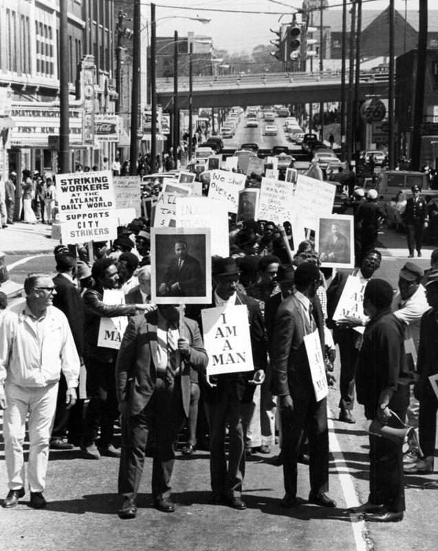 I Am A Man Atlanta Protests Striking Workers Wayne State University Martin Luther King Jr