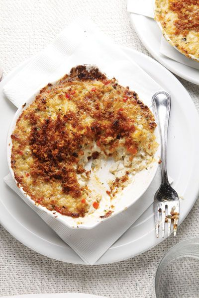 This spicy crab casserole is a specialty of Sting-Ray's in Cape Charles, Virginia.